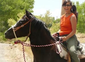 Tina on her horse Milagro