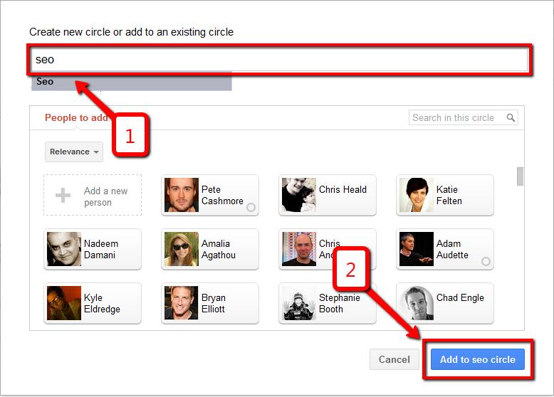 Add Google+ Circle