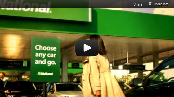 """Monday Night Football – National Car Rental Commercial Mentions """"SEO""""."""