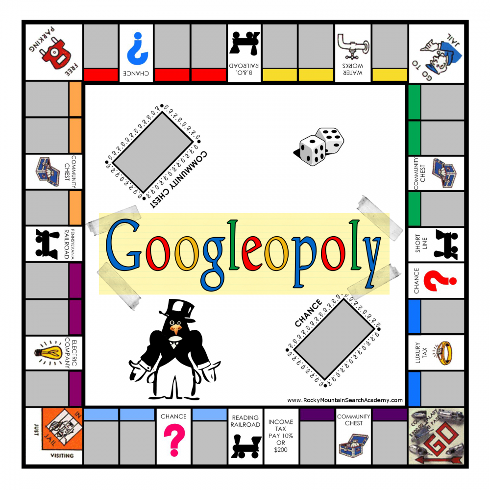 picture of Googleopoly board game
