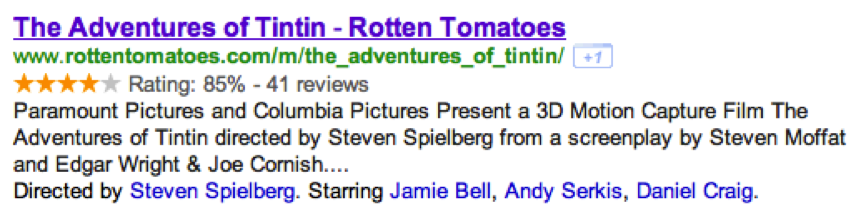 Structured Data and SEO - Rotten Tomatoes Example